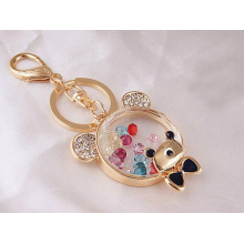Color crystal bear car key chain