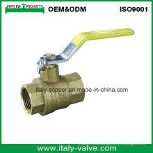 Válvula de bola forjada de cobre amarillo de la calidad 600wog (AV1019)
