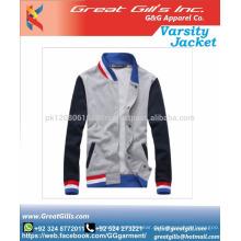 Hochwertige Herren gewebte Tweedwolle Bomberjacke benutzerdefinierte Uni-Jacken
