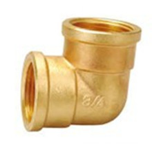 90 Degree Threaded Brass Pipe Elbow