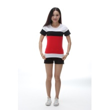 2018 summer new round neck short-sleeved striped t-shirt