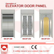 Concave Golden Stainless Steel Door Panel for Elevator Cabin Decoration (SN-DP-349)