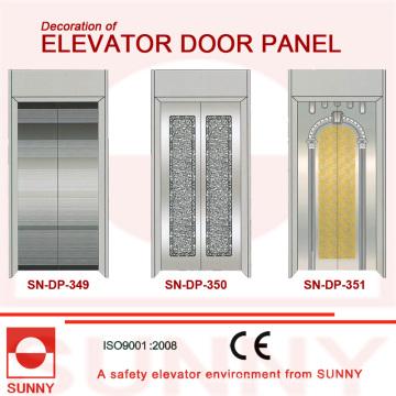 Вогнутая золотистая дверная панель из нержавеющей стали для отделки кабины лифта (SN-DP-349)