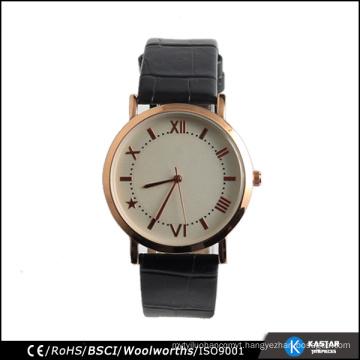 Unisex watch japan quartz watch rose gold top loading case