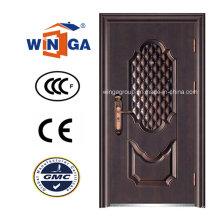 Ce Hot Sale Bronze Sécurité Steel Metal Copper Door (W-ST-08)