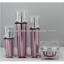 Botellas cosméticas sin aire de lujo cuadradas de 30ml 50ml