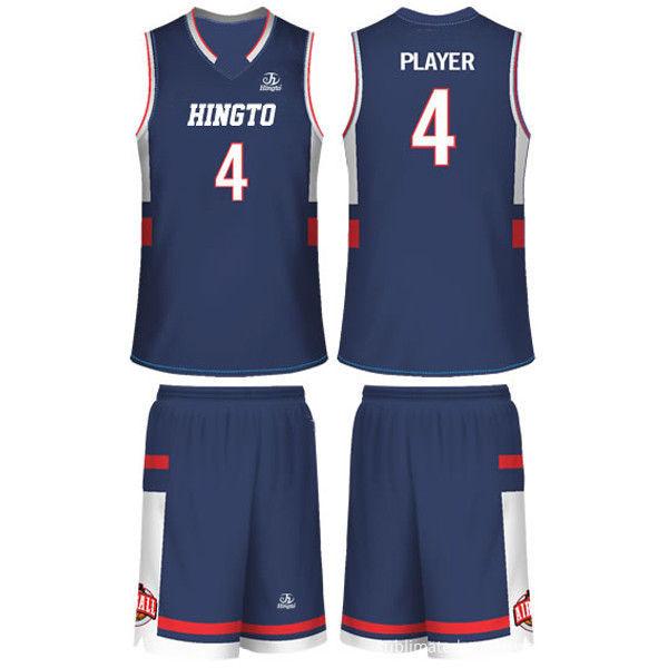 05610f836c7 Jersey Elastic Dazzle Blue Unisex Sublimated Basketball Uniforms Sublimation