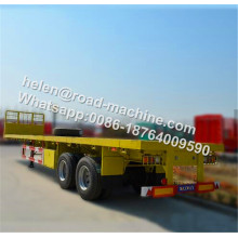 Tri Gandar 40ft Flatbed Kontainer Setengah Trailer