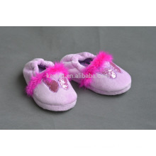 pink fashion pretty baby indoor slipper shoes 2016