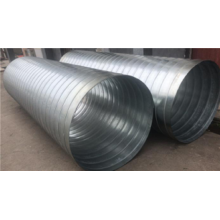Galvanized iron air duct for HVAC system