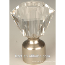 D19060Classic Crystal Glass Curtain Finials с металлическими крючками