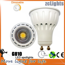 Лучшая цена Высокий Lumen Dimmable 7W COB LED GU10 Прожекторы