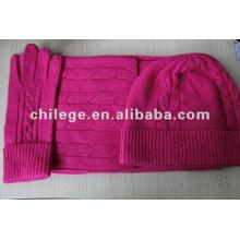 Mode Kaschmir Hüte, Schals & Handschuhe Sets