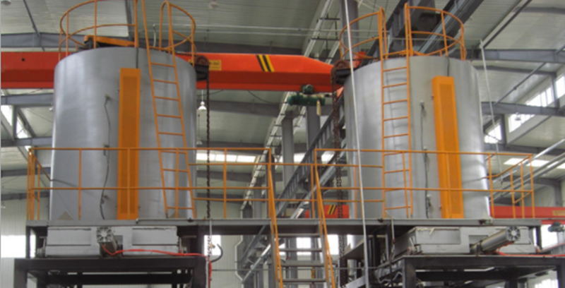Vertical quenching furnace