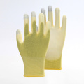 Three Fingers Touch-Screen Color PU Safety Gloves