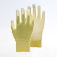 Three fingers Touch Screen PU Safety Gloves