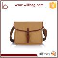 Simple popluar Gentleman Leather Canvas Messenger Bag