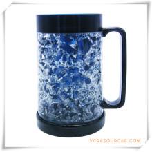Tasse de bière glacée à double paroi Tasse de bière glacée à glace pour cadeaux promotionnels (HA09082)