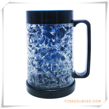 Double Wall Frosty Mug Frozen Ice Beer Mug for Promotional Gifts (HA09082)
