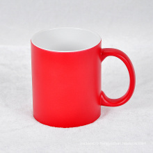 2016 Custom Printing Company Logo Porcelain Mug Ceramic Coffee Cup Red Mug