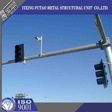 Hot Galvanized Steel 10M Traffic Signal Poles