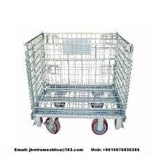 Galvaniserad Wire Mesh Folding Storage Cage