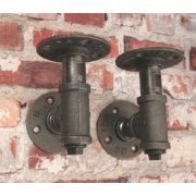 SOPORTE DE TUBO INDUSTRIAL Vintage 1949 Style Dark Grey Accesorios de tubería de hierro maleable