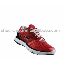 Las últimas zapatillas para correr de moda con malla roja para hombres
