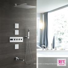 HIDEEP душ Ванная комната термостатический скрынный комплект ливня