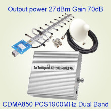 Dual Band CDMA 850 PCS 1900MHz Cellphone Signal Amplifier St-1085b