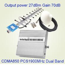 Мобильный усилитель сигнала Двухдиапазонный ретранслятор сигналов St-1085b с ретранслятором 850/1900 МГц Smda PCS Repeater