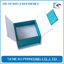 Caja de papel de embalaje plegable de joyería personalizada SenCai