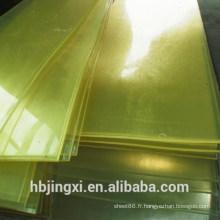 Feuille de plastique PU ignifuge jaune