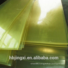 Yellow Flame Retardant PU Plastic Sheet