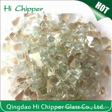 Fire Pit Glass Gold Reflective