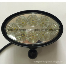 "12V-24V 6"" Oval 40W CREE LED Trailer Light"
