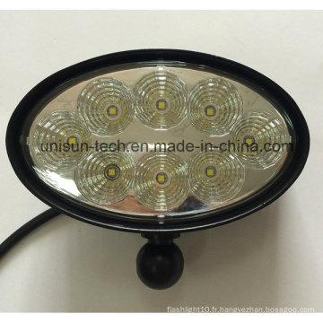 """12V-24V 6 """"Oval 40W CREE LED Trailer Light"""