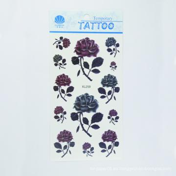 Forme la etiqueta engomada temporal linda hermosa del tatuaje, etiqueta engomada de destello impermeable del tatuaje de la aduana