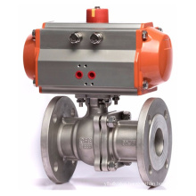 Stainless Steel Flange Q641F-16P-DN80 3 inch Water Air Pneumatic Ball Valve
