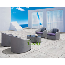 SL-(37) outdoor furniture rattan half round sofa chair