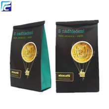 Aluminum foil food grade matt black coffee bag
