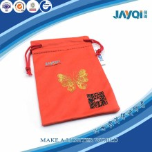 Red Drawstring Microfiber Pouch for Gift