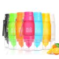 Botella de agua deportiva 22oz H2O Multi color fruta limón botella de bebida sin mínimo