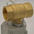 """Válvula de bola motorizada de 2 vías 3/4 """"pulgadas Dn20 Válvula de bola eléctrica automática"""