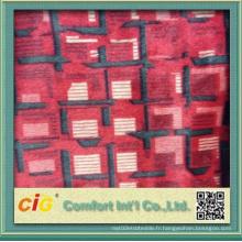 Tissu en polyester imprimé de conception populaire