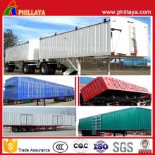 Multi Function Tri-Axle Container Cargo Box Semi Trailer
