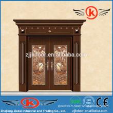 JK-C9044 porte d'entrée en laiton de luxe en cuivre imité