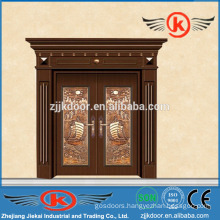 JK-C9044 luxury brass entry door imitated copper faced