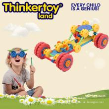Brinquedo plástico da construção do carro de corridas para o menino
