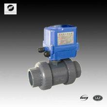 ПВХ электрический привод шариковый клапан 40мм 50мм 220В